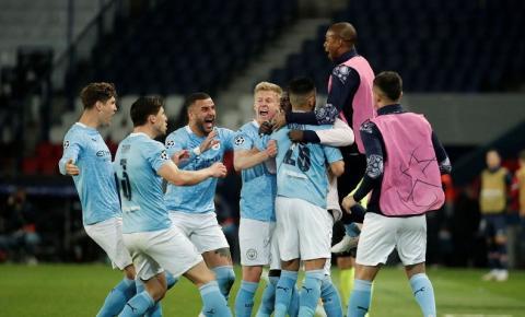 City vence PSG em Paris e fica perto da final da Liga dos Campeões