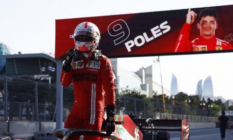 Fórmula 1: Charles Leclerc conquista pole no GP do Azerbaijão