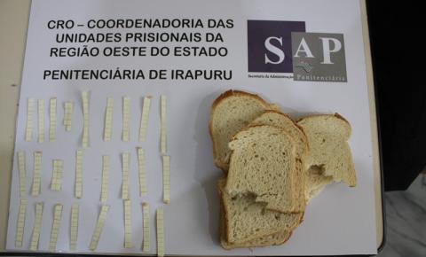 Mulher encaminha pães de forma recheados de K4 à Penitenciária de Irapuru