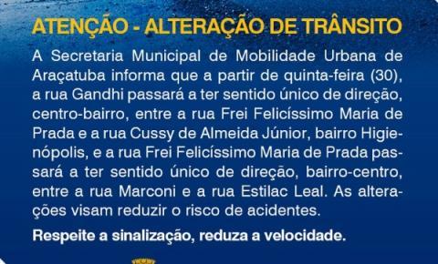 Alteração de Trânsito em Araçatuba