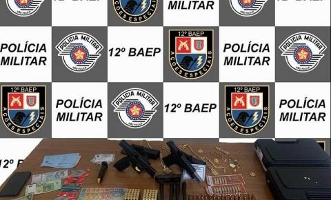 Homem é preso com armas em condomínio em Araçatuba