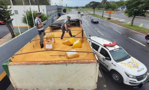 Polícia Rodoviária realiza apreensão de mais de 12 toneladas de maconha em Presidente Prudente