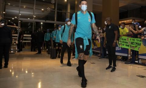 Seleção Brasileira chega a Barranquilla para enfrentar a Colômbia