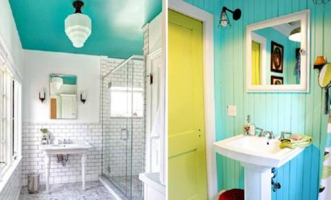 Confira inspirações de banheiros coloridos