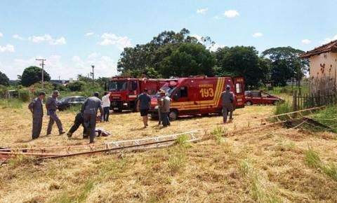 Um araçatubense morre e outro fica ferido após queda de torre de rádio em Tanabi; estrutura de ferro caiu sobre tórax de vítima