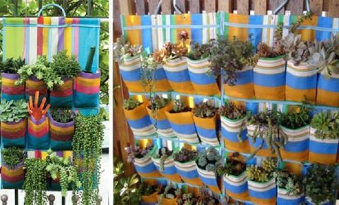 Veja como fazer um jardim vertical com sapateira