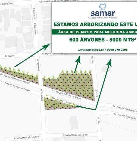 SAMAR comemora neste sábado o Dia da Árvore com a realização de evento esportivo em prol do plantio de mais de 600 árvores em Araçatuba