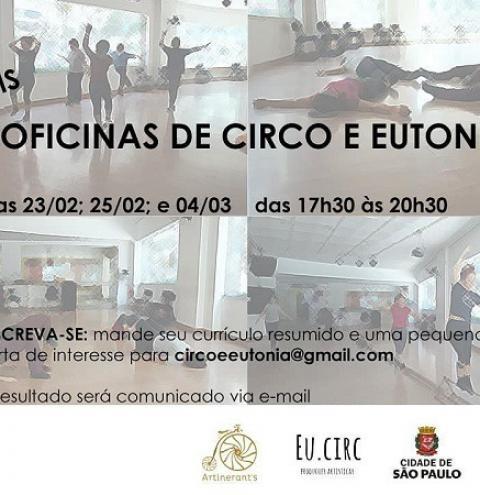Oficinas de Circo e Eutonia para restabelecer tônus muscular e energia corporal na plataforma Zoom; vagas são gratuitas