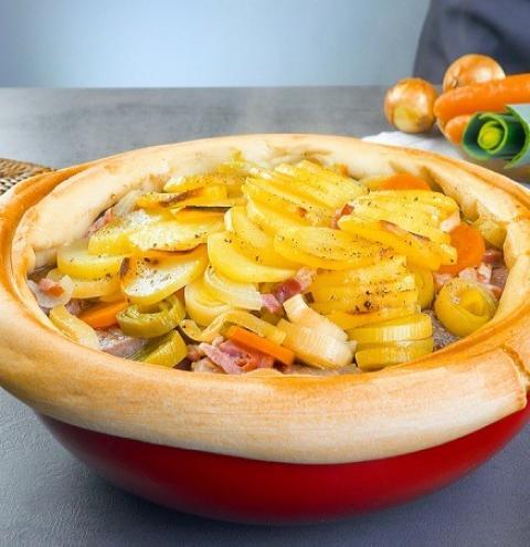 Ensopado de carne e vegetais da Alsácia